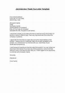 Thank You Letter For Interview Opportunity Job Interview Thank You Letter Template Business