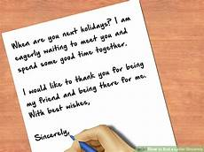 End Of Letter Closings How To End A Letter Sincerely 8 Steps With Pictures