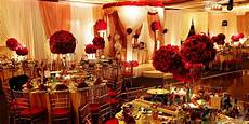 red white and gold wedding