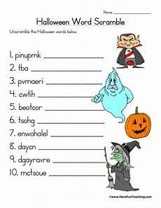 Halloween Themed Words 20 Spooky Halloween Word Scrambles Kittybabylove Com