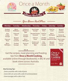 How To Meal Plan For A Month Once A Month Freezer Cooking Meal Plans