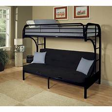 acme eclipse xl futon metal bunk bed black