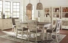 bolanburg white and gray rectangular dining room set from