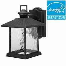 Outdoor Led Motion Sensor Light Home Depot Hampton Bay Lumsden Outdoor Black Led Motion Sensor Wall