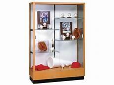 heritage hardwood trophy cabinet white laminate 48 quot wx70