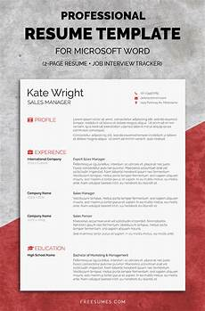 How To Complete A Resume Modern Cv Resume Templates With Cover Letter Design