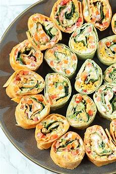 appetizers pinwheel veggie pinwheels appetizer with ranch cheese