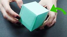 Paper Cube 3 Ways To Make A Paper Cube Wikihow