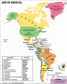 World Map Of North And South America Map Of North America And South America Map Of Americas