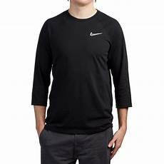 nike sleeve shirts nike sb dri fit gfx 3 4 sleeve shirt black black white