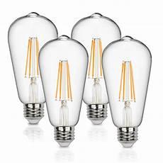 Vintage Light Bulbs Cool White Vintage Led Edison Bulbs 60 Watt Equivalent 6w Dimmable