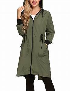 Light Raincoat Cnlinkco Women Waterproof Hooded Raincoat Lightweight Long