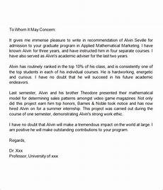 Sample Graduate School Recommendation Letter From Employer 38 Sample Letters Of Recommendation For Graduate School