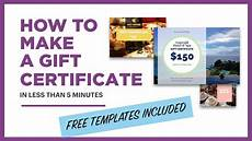 Make Gift Certificates Online Free How To Make A Gift Certificate Free Template Included