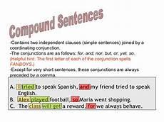Simple Compound Complex Sentences Simple Compound Complex Compound Complex Sentences