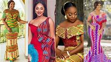 Ankara Kente Designs 2019 Ghana Wedding Dresses Kente Ankara Trendy Styles