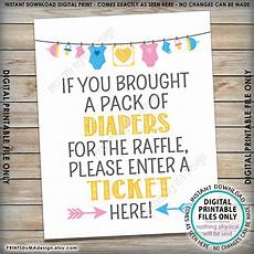 Raffle Ticket Signs Diaper Raffle Ticket Sign Enter A Raffle Ticket Here