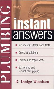 Plumbing Instant Answers R Dodge Woodson Mcgraw Hill