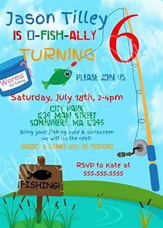 Birthday Invitations For Boy Printed Or Printable Fishing Themed Birthday Invitation