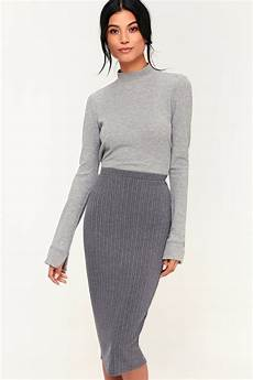 o neill candi skirt grey skirt ribbed knit skirt