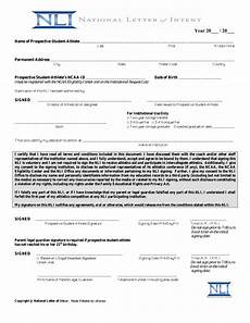 What Is Letter Of Intent Free National Letter Of Intent Template Sample Pdf