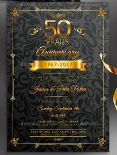 50th Anniversary Template 32 50th Wedding Anniversary Invitation Designs