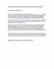 Paper Cover Letter Manuscript Cover Letter Sample Sample Cover Letter