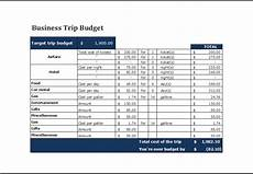 Travel Budget Spreadsheet Business Trip Budget Template Business Travel Budget