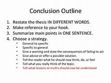 A Conclusion To An Essay Conclusion Outline