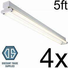 Twin Tube Fluorescent Lights 4x 5ft Twin T8 Fluorescent Light Fitting T8 High Frequency