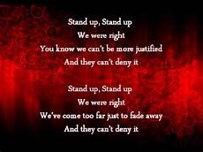 Stand In The Light Lyrics All That Remains Stand Up Lyrics Youtube