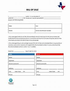 Bill Of Sale For Car In Texas Bill Of Sale Texas Templates At Allbusinesstemplates Com