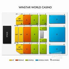 Winstar Theater Seating Chart Winstar Concerts Seating Guide For The Oklahoma Casino