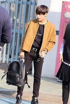 taehyung airport fashion bts roupas moda coreana