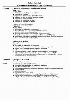 Resume For Forklift Operator Certified Forklift Operator Resume Inspirational Lift