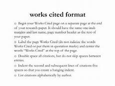 Format Of A Work Cited Page Writing Style 15 Using Mla Citation Youtube