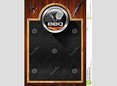 Blackboard For Barbecue Menu Stock Illustration
