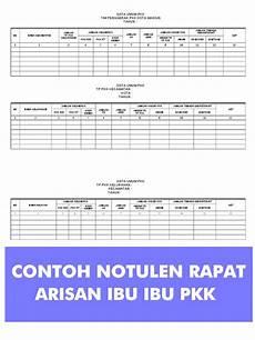 contoh notulen rapat arisan ibu ibu pkk kumpulan laporan