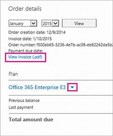 Office 365 Invoice View Your Bill For Office 365 For Business Office 365