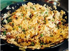 What's for dinner tonight? Chicken and Shrimp Paella