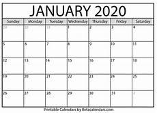 2020 Jan Calendar Blank January 2020 Calendar Printable Beta Calendars