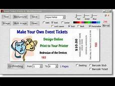 Ticket Making Template Easy Ticket Creator Software Youtube