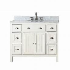 avanity hamilton 42 quot single bathroom vanity white
