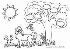 Nadines Malvorlagen Pferd Auf Juniweide Nadines Ausmalbilder