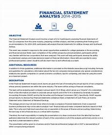 financial analysis example corporate financial statement