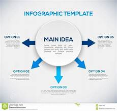 Infographic Arrow Infographics Template With Arrows And 3d Circle Stock