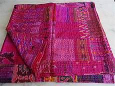 buy patola silk patch work kantha quilt kantha blanket