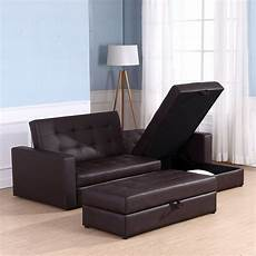 homcom sectional sofa bed storage convertible chaise