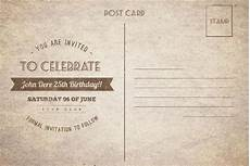Birthday Invitation Postcards 10 Best Birthday Invitation Postcards Psd Ai Word