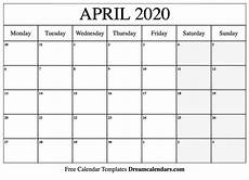 print calendar april 2020 printable blank april 2020 calendar on we heart it